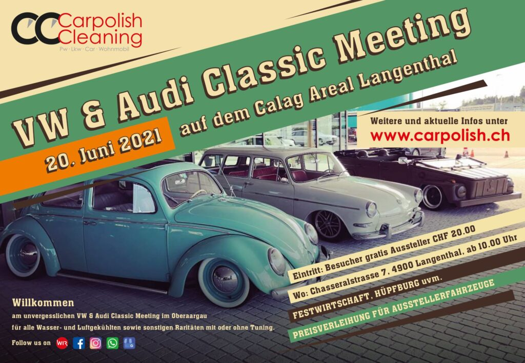 Flyer VW Audi Classic Meeting